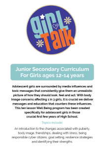 Girl Talk Junior Secondary Curriculum by Sharon Witt