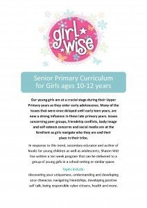 Girls Wise Senior Curriculum Outline by Sharon Witt