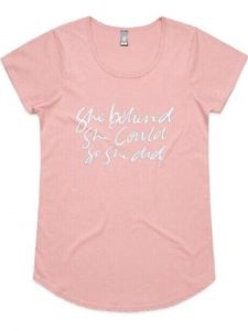 This One Life T-Shirt in a Rose colour with white text